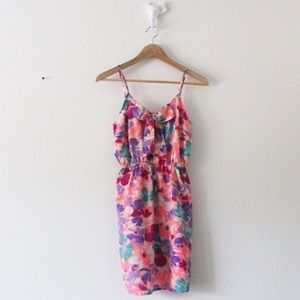 I love h8 floral tie fitted at waist dress